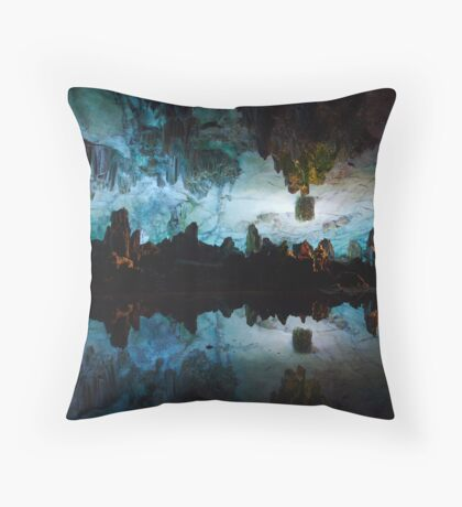 Reed Flute Cave Throw Pillow