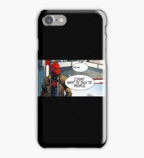 Red Hood - I Don't Want to Talk to People iPhone Case/Skin