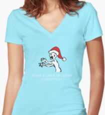 Grr Argh Christmas Women's Fitted V-Neck T-Shirt
