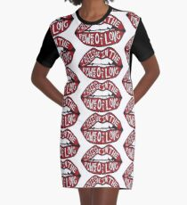 I BELIEVE IN THE POWER OF LOVE Graphic T-Shirt Dress