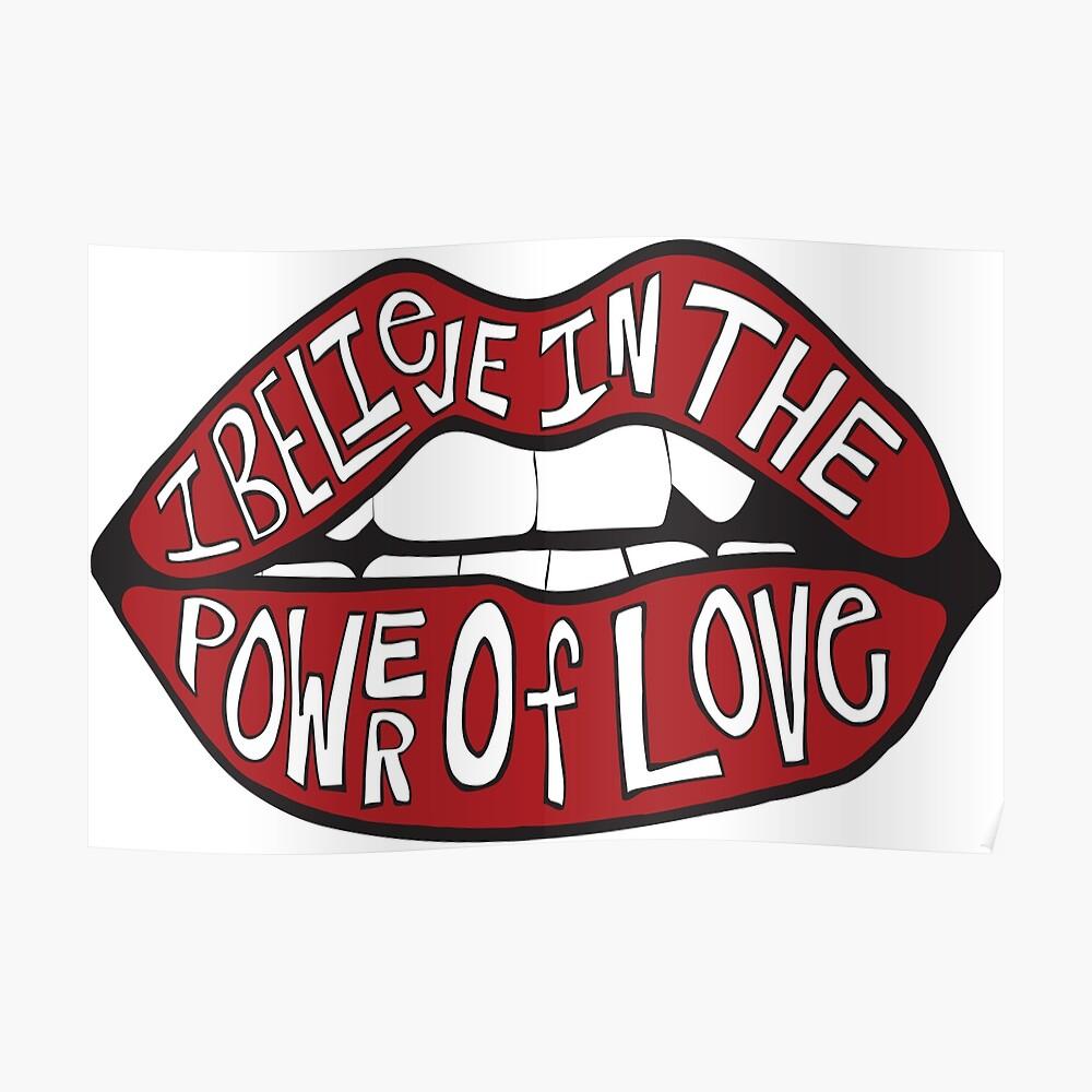 Ich glaube an die Kraft der Liebe Poster