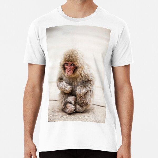 Japanese Macaque monkey, Jigokudani Snow Monkey Park, Japan Premium T-Shirt