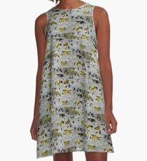 Yellow bird A-Line Dress