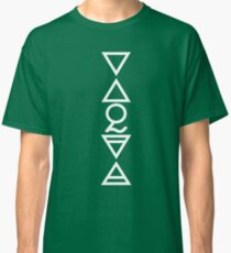 EARTH, AIR, SKY, WATER, SPIRIT V  - alchemy solid white Classic T-Shirt