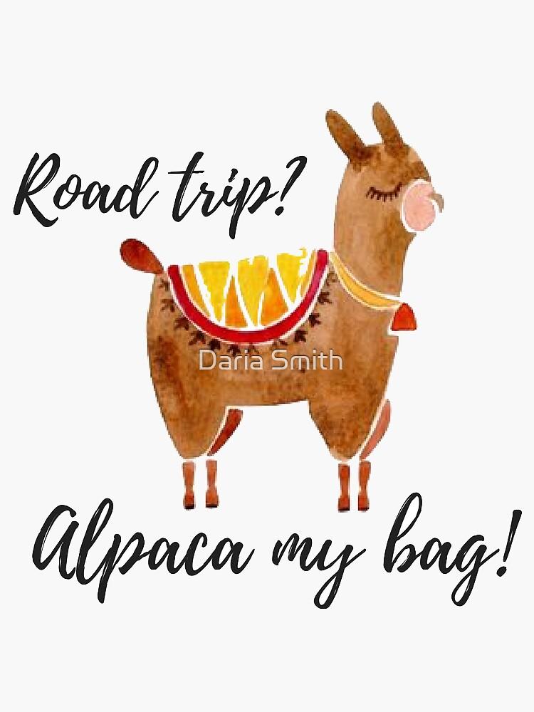 ¿viaje? alpaca my bag !, acuarela alpaca de dariasmithyt