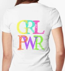 GRL PWR Women's Fitted T-Shirt