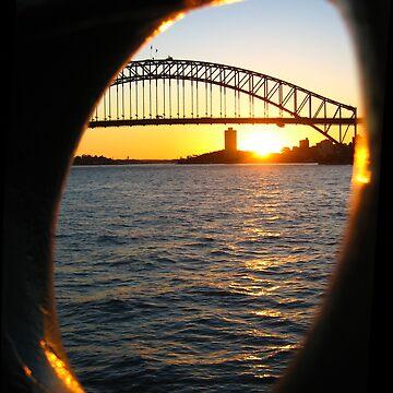 Sunset over Sydney Harbour Bridge, Australia by mekana