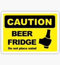 BEER FRIDGE, DO NOT PLACE SALAD Sticker