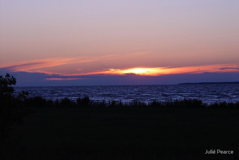 Lake Michigan Sunset by Julié Pearce