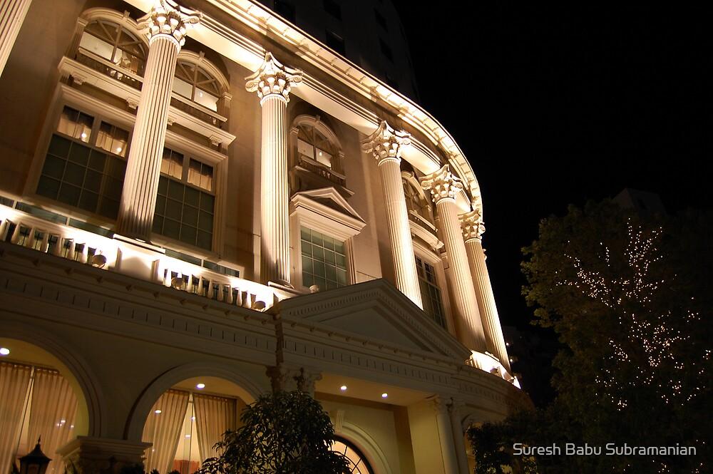 A Hotel At Night by Suresh Babu Subramanian