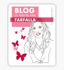 Blog il volo di una farfalla Sticker
