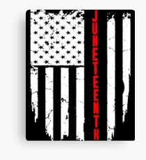 Juneteenth American Flag Canvas Print
