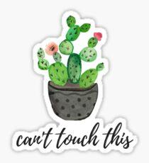 Pegatina no puedo tocar esto, cactus de acuarela
