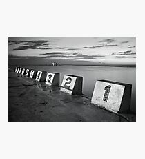 Merewether Baths Black and White Photographic Print