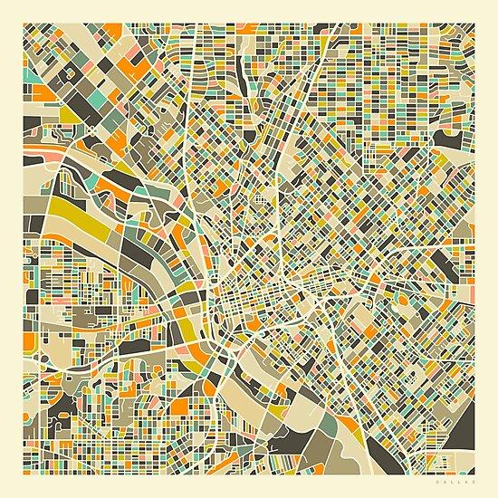 Dallas Map by JazzberryBlue