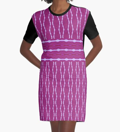 Beautiful Rich And Bright Plum Design Graphic T-Shirt Dress