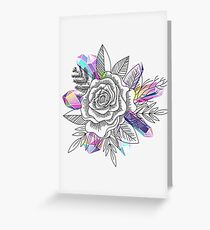 Rose and Crystals Greeting Card