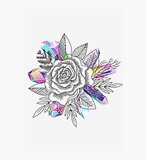 Rose and Crystals Photographic Print