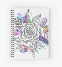 Rose and Crystals Spiral Notebook