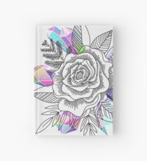 Rose and Crystals Hardcover Journal
