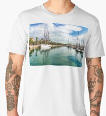 Yachts and Palm Trees - Impressions of Barcelona  Men's Premium T-Shirt