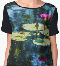 Waterlily Impressions - Dreaming of Monet Gardens Women's Chiffon Top