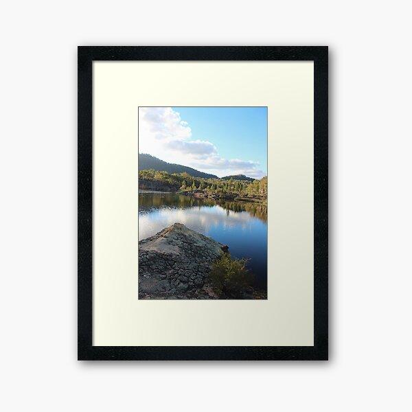 Platypus Point Dunn's Swamp NSW Framed Art Print