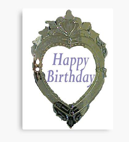 Hearty Happy Birthday Canvas Print