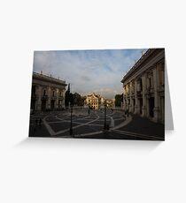 Michelangelo's Wonderful Square - Piazza del Campidoglio, Rome Greeting Card