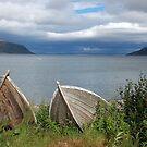Boats ashore (Olderfjord - Norway) by Arie Koene