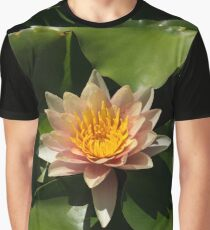 Exotic Colors - A Soft Coral Waterlily Graphic T-Shirt