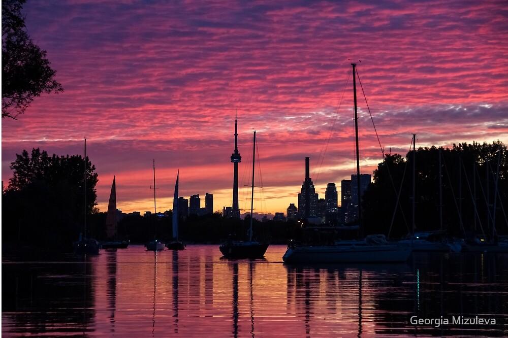 Of Yachts and Skylines by Georgia Mizuleva