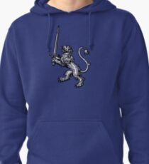 Lion with Sword - Cool T-Shirt Design Pullover Hoodie