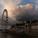 Sky Drama Around the London Eye by Georgia Mizuleva