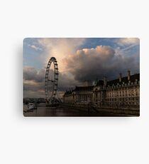 Sky Drama Around the London Eye Canvas Print