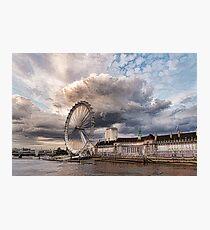 Impressions of London - London Eye Dramatic Skies Photographic Print