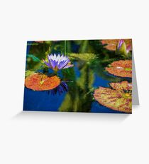 Autumn Lily Pad Impressions Greeting Card