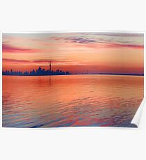 Brilliant Colorful Morning - Toronto Skyline Impressions Poster