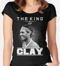 Rafa Nadal the king of Clay Women's Fitted Scoop T-Shirt
