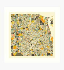 ROCHESTER MAP Art Print