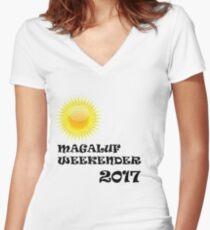 Magaluf logo Women's Fitted V-Neck T-Shirt