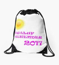 Magaluf weekender 2017 pink Drawstring Bag