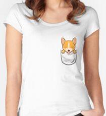 Pocket Corgi! Women's Fitted Scoop T-Shirt