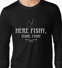 Here Fishy, Fishy, Fishy | Funny Fishing T-Shirt
