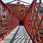 Footbridge to Girona by Arie Koene