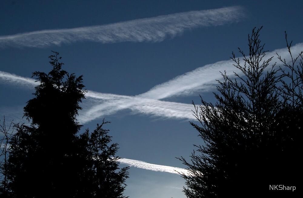 Plane Trails by NKSharp