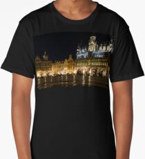 Brussels - the Magnificent Grand Place at Night Long T-Shirt