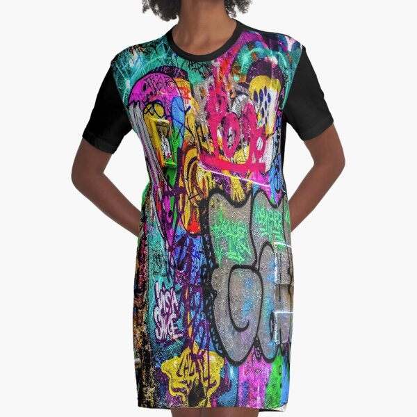 Street Art Graphic T-Shirt Dress