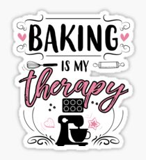 Baking Is My Therapy Sticker
