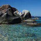 Sunny Caribbean Beach - The Baths on Virgin Gorda, British Virgin Islands, BVI by Georgia Mizuleva